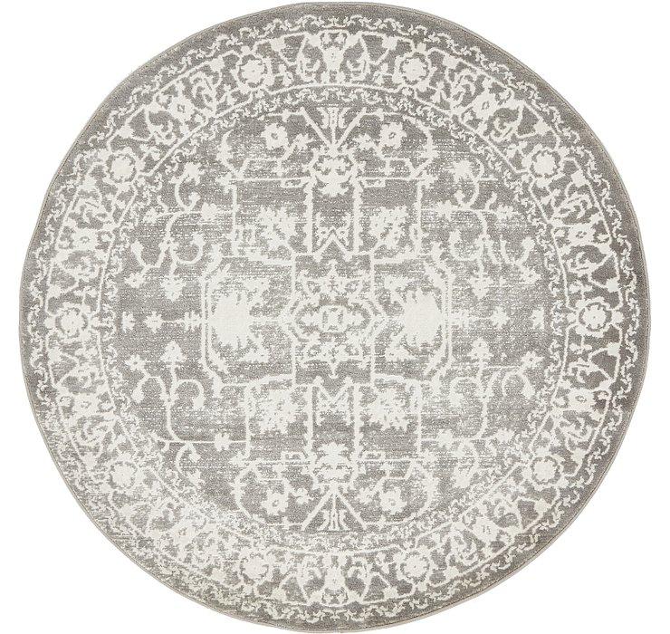 Light Gray Modern Classical Round ...