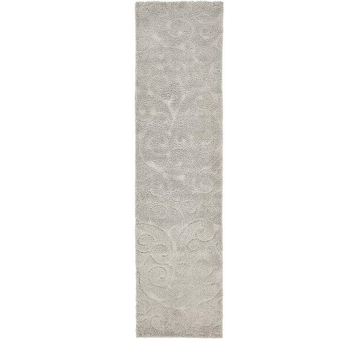 80cm x 305cm Floral Shag Runner Rug