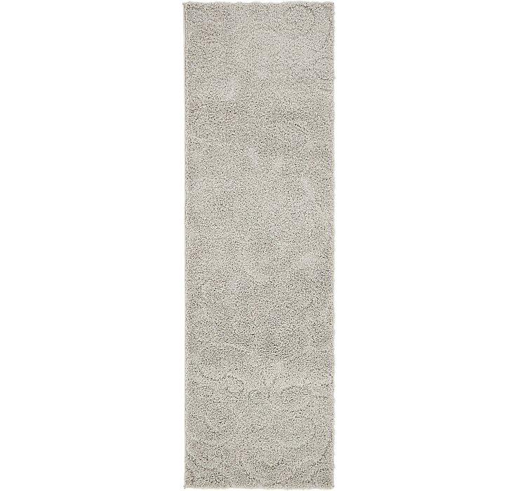2' x 6' 7 Floral Shag Runner Rug