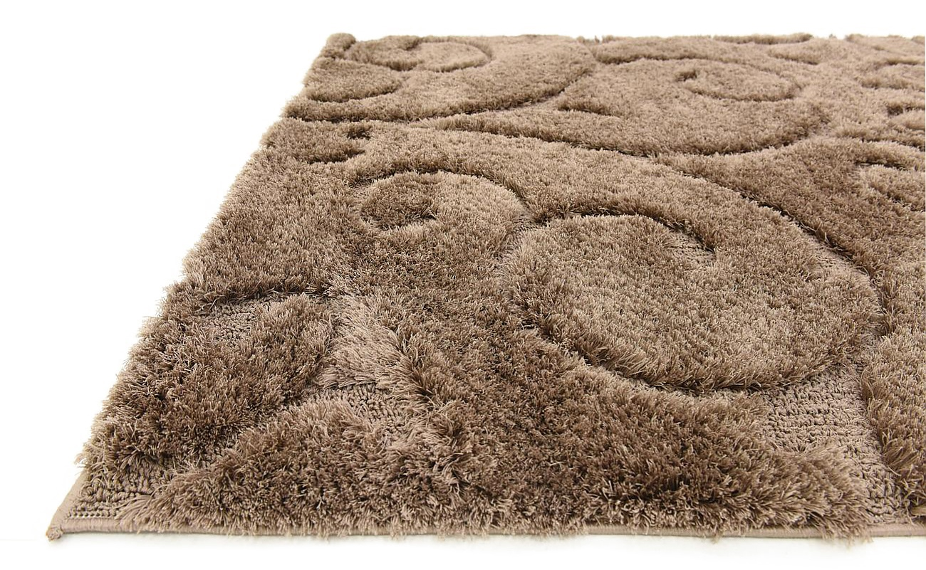 Modern area rug shaggy small carved carpet plush style for Designer floor rugs