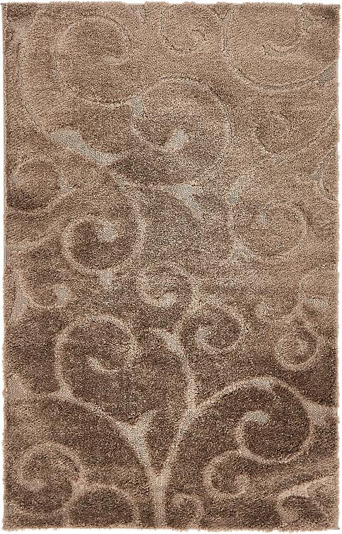 Brown 5 X 8 Floral Shag Rug Area Rugs Irugs Uk