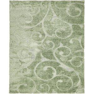 8' x 10' Floral Shag Rug