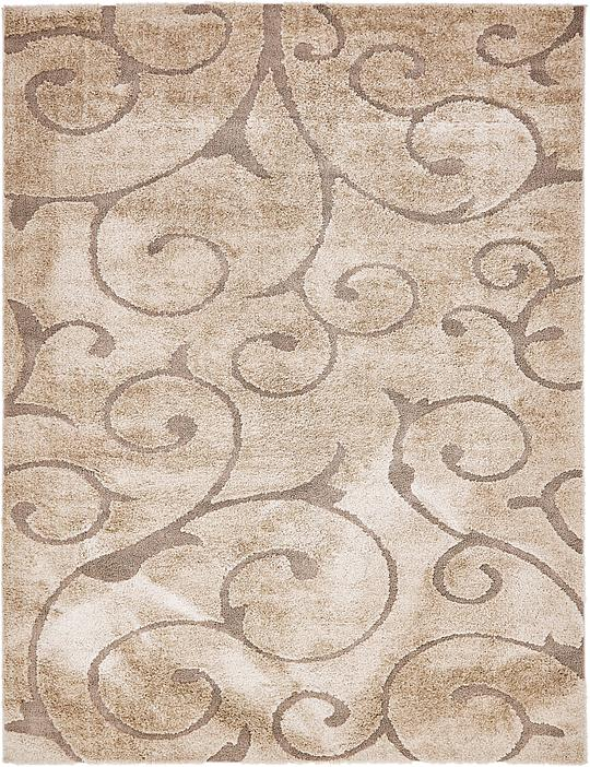 light brown 9 39 x 12 39 floral shag rug area rugs esalerugs. Black Bedroom Furniture Sets. Home Design Ideas