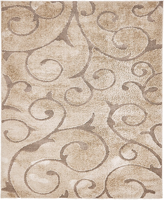 light brown 8 39 x 10 39 floral shag rug area rugs esalerugs. Black Bedroom Furniture Sets. Home Design Ideas