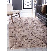 Link to 152cm x 245cm Floral Shag Rug