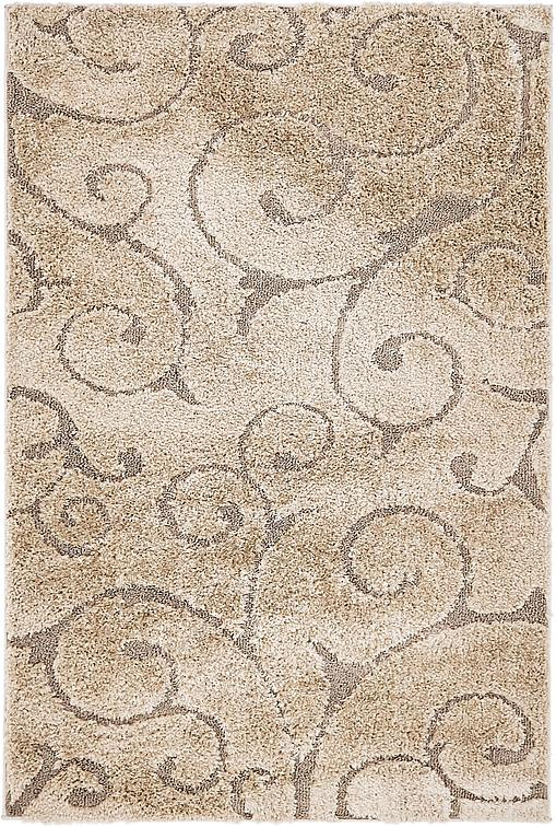 Light Brown 4 X 6 Floral Shag Rug Area Rugs Irugs Uk
