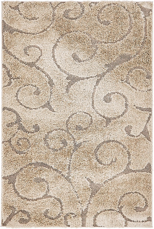 light brown 122cm x 183cm floral shag rug area rugs au. Black Bedroom Furniture Sets. Home Design Ideas