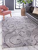 5' x 8' Floral Shag Rug thumbnail
