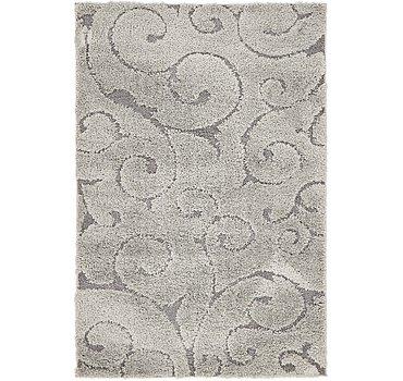 122x183 Floral Shag Rug