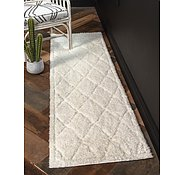 Link to Unique Loom 2' x 6' 7 Trellis Shag Runner Rug