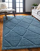 8' x 10' Lattice Shag Rug thumbnail