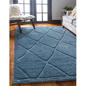 Unique Loom 5' x 8' Trellis Shag Rug