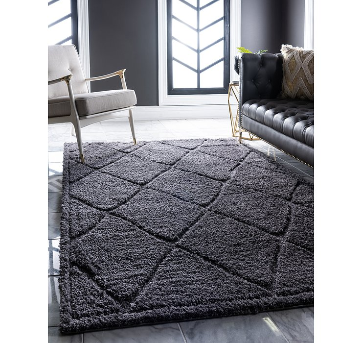 5' x 8' Lattice Shag Rug