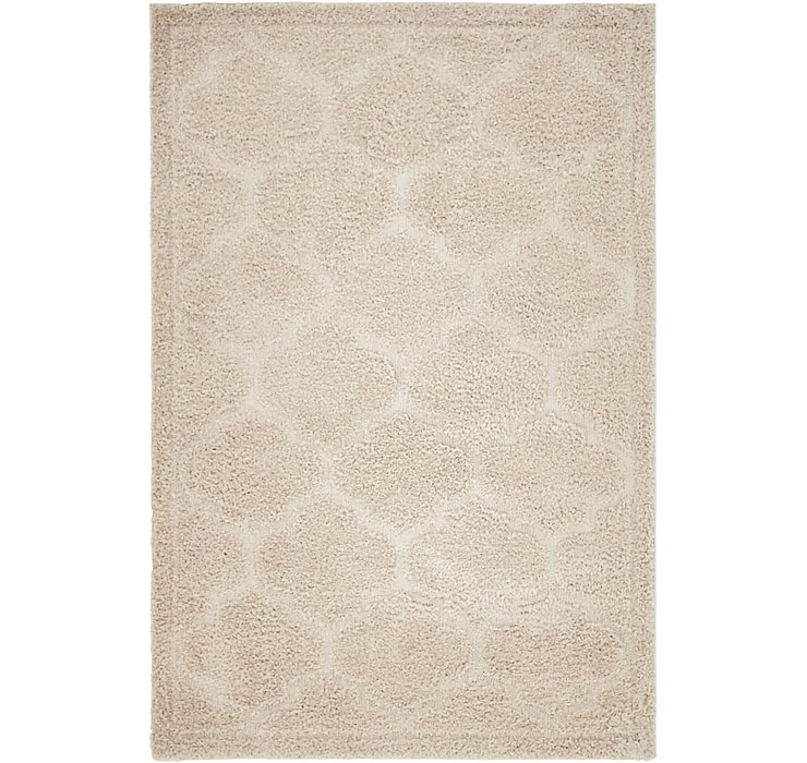 Beige Lattice Shag Rug