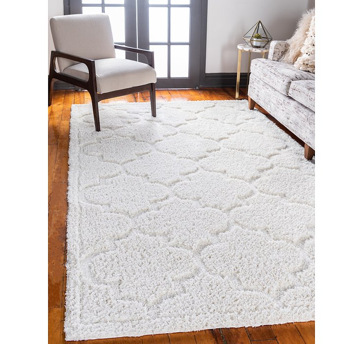 8' x 10' Lattice Shag Rug