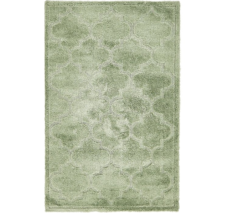 Green Lattice Shag Rug