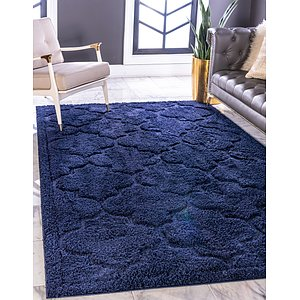 Unique Loom 8' x 10' Trellis Shag Rug