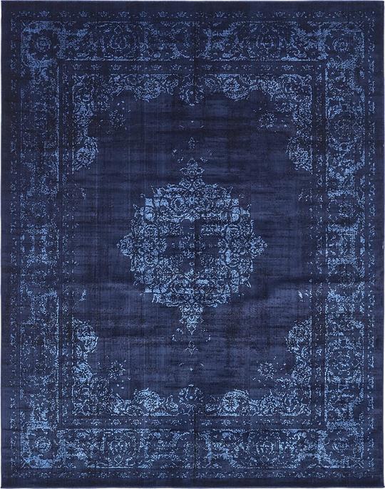 Navy Blue 8u0026#39; x 10u0026#39; Renaissance Rug : Area Rugs : eSaleRugs