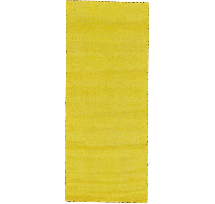 HandKnotted 2' 7 x 6' 7 Solid Gabbeh Runner Rug
