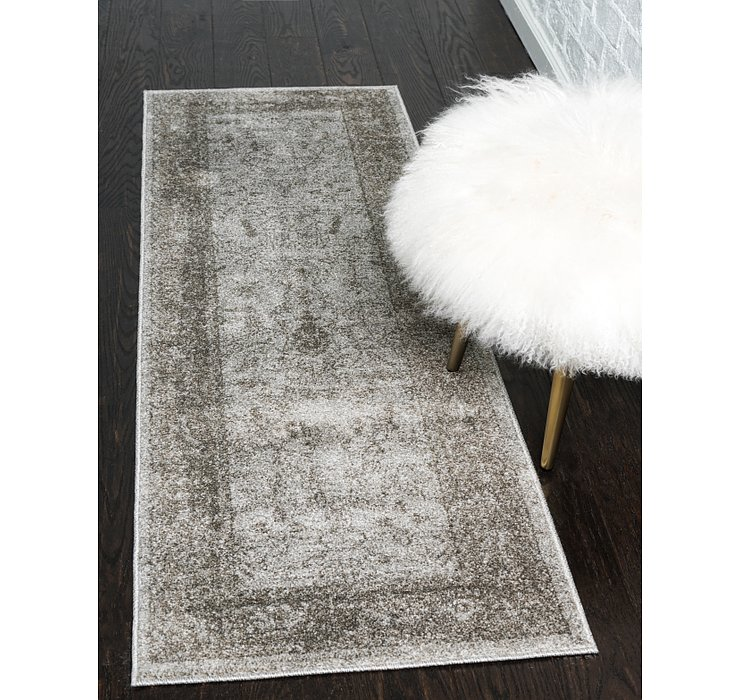 Light Gray Miranda Runner Rug