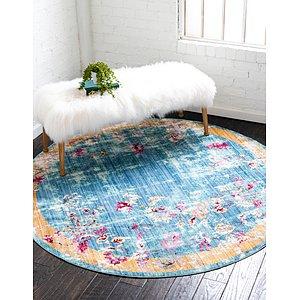 Unique Loom 6' x 6' Austin Round Rug