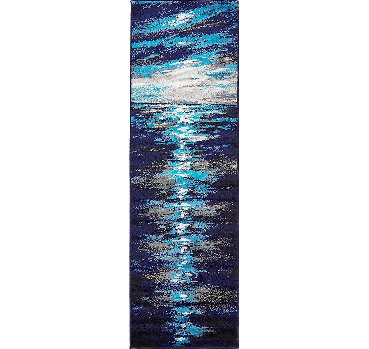 Navy Blue Sydney Runner Rug