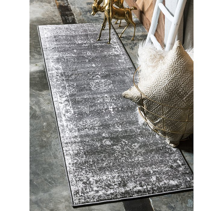 Dark Gray Monte Carlo Runner Rug