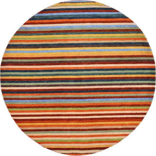 Shop Oriental Persian Gabbeh Shades Of Orange Hand Knotted: Multi 245cm X 245cm Indo Gabbeh Round Rug