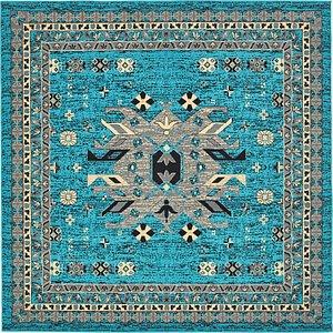 Unique Loom 8' x 8' Taftan Square Rug