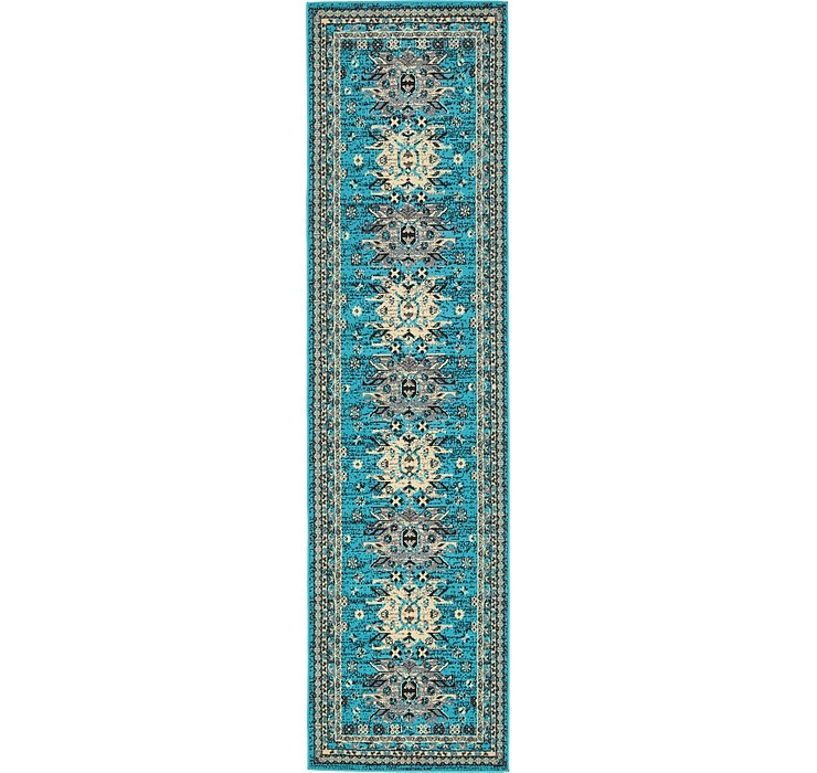 2' 7 x 10' Heriz Design Runner Rug
