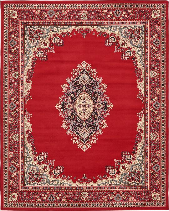 Red 245cm X 305cm Mashad Design Rug Area Rugs Au Rugs