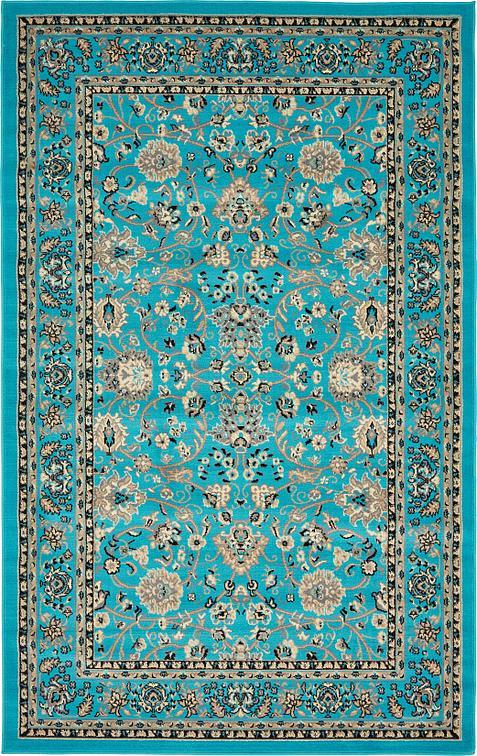 Turquoise 5 X 8 Kashan Design Rug Area Rugs Rugs Ca