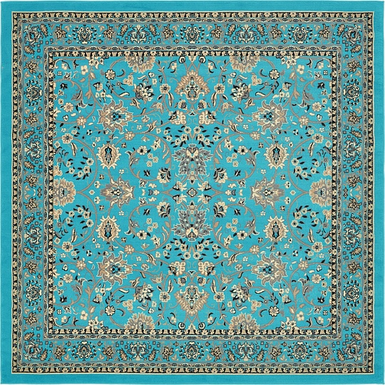 Turquoise Area Rug Amazon Com: Turquoise 245cm X 245cm Kashan Design Square Rug