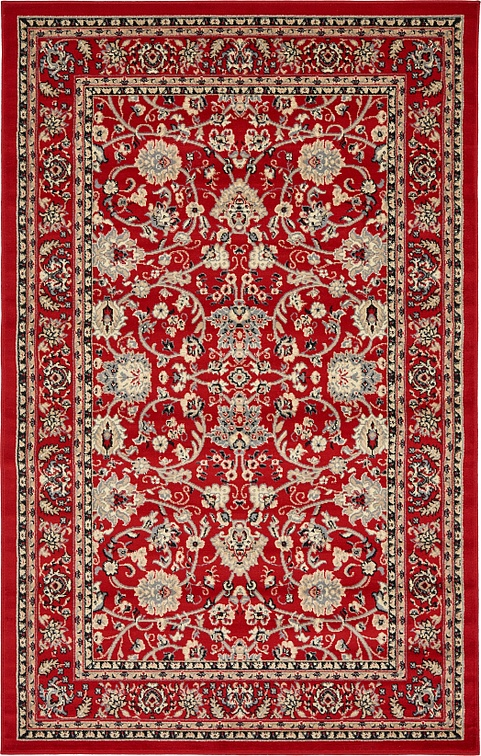 Red 5 X 8 Kashan Design Rug Area Rugs Esalerugs