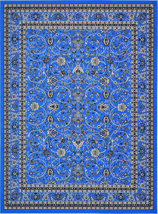 Dark Blue 9 10 X 13 Kashan Design Rug Area Rugs Irugs Uk