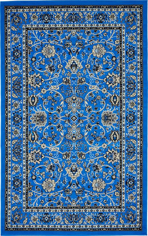 Dark Blue 5 X 8 Kashan Design Rug Area Rugs Irugs Uk