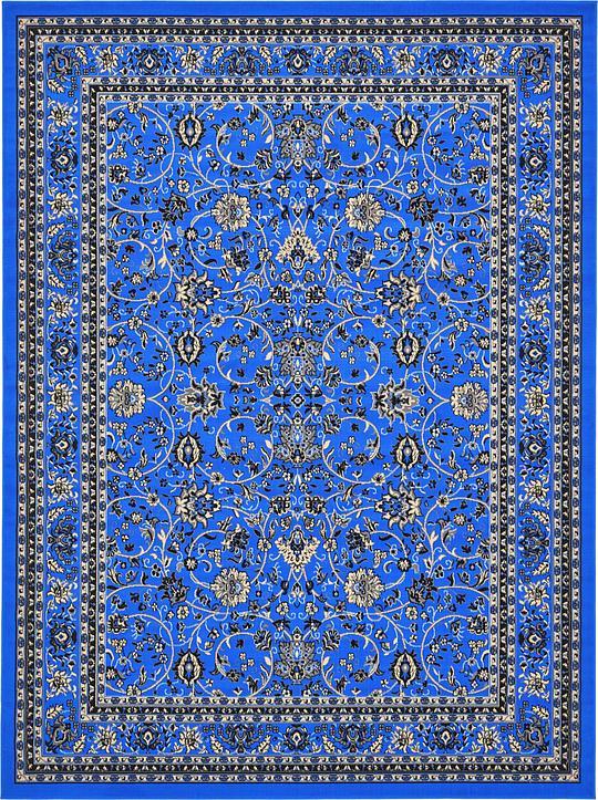 Dark Blue 9 X 12 Kashan Design Rug Area Rugs Irugs Uk
