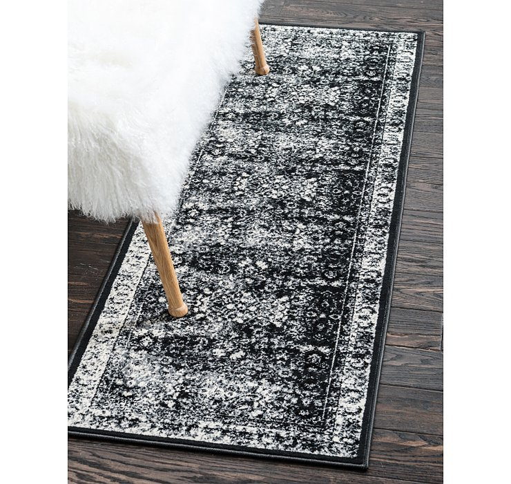 Light Gray Ankara Runner Rug