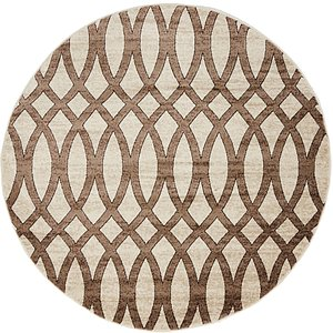 Unique Loom 5' x 5' Rushmore Round Rug
