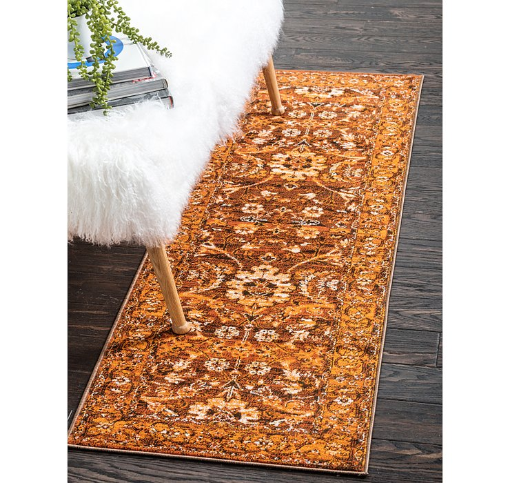 Chocolate Brown Ankara Runner Rug