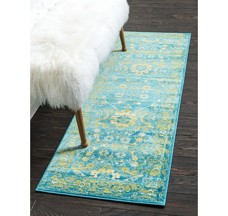 Blue Ankara Runner Rug