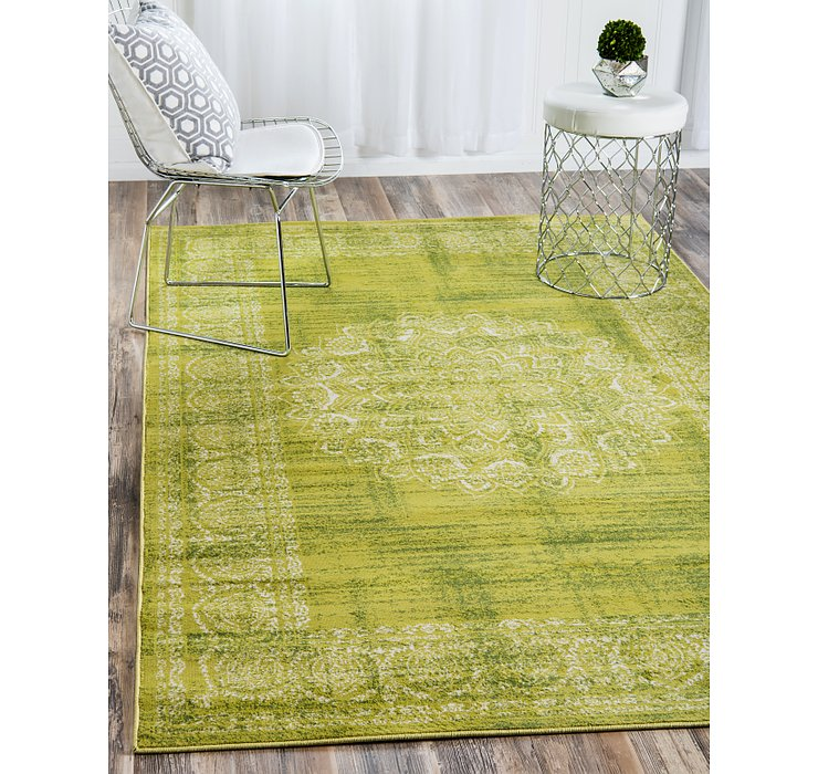 Light Green Ankara Rug