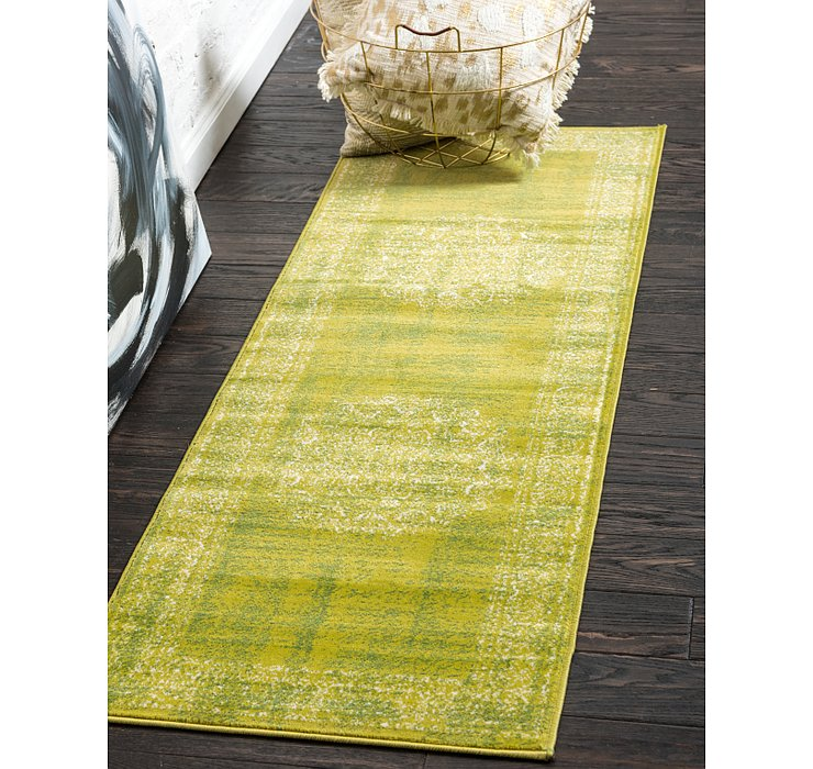 Light Green Ankara Runner Rug