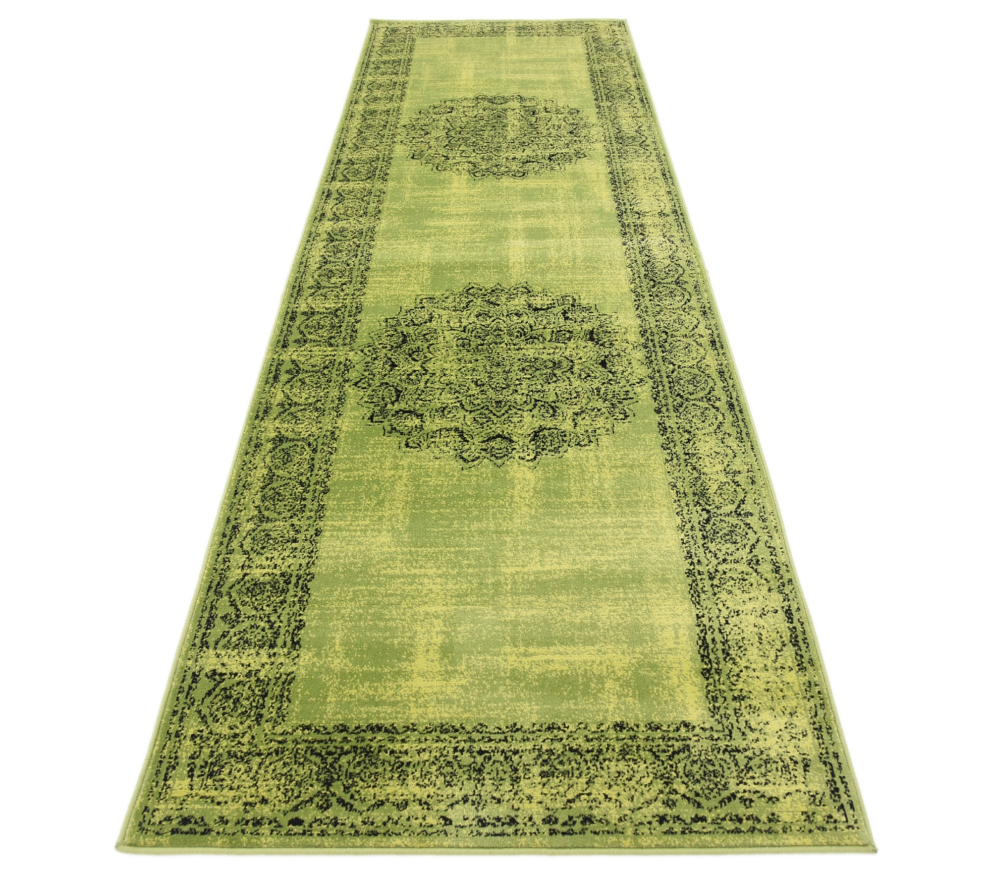 A2Z Rug Traditional And Modern Transition Area Rug Green