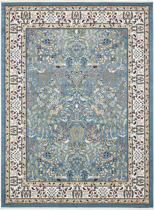 Blue 10 X 13 Nain Design Rug Area Rugs Irugs Uk