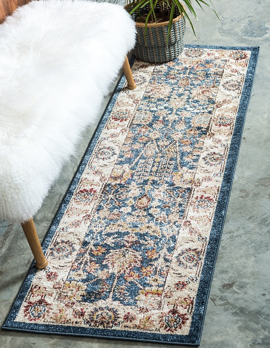 Light Blue 2 7 X 10 Arcadia Runner Rug Area Rugs