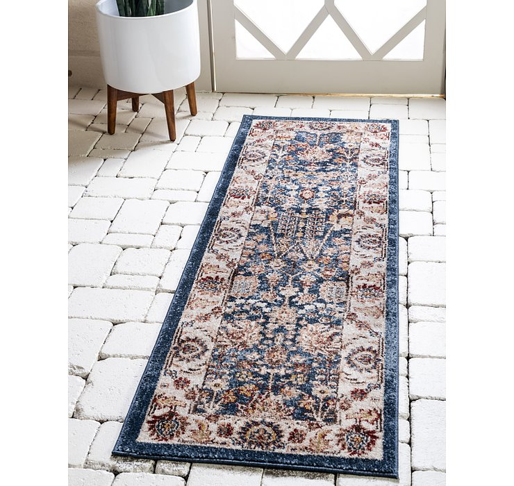 Light Blue Eden Runner Rug