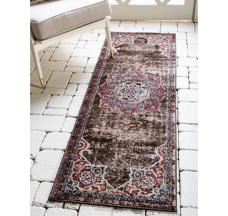 Chocolate Brown Eden Runner Rug