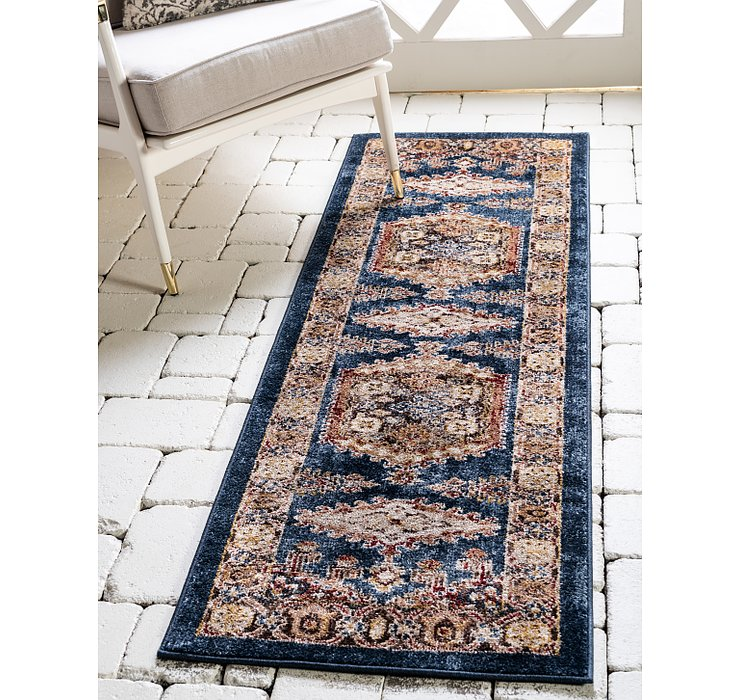 Dark Blue Eden Runner Rug