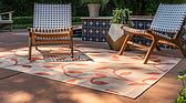 5' x 8' Outdoor Botanical Rug thumbnail image 2
